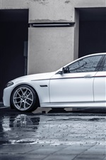 Preview iPhone wallpaper BMW F10 white car