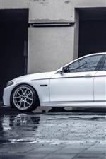 BMW F10 white car
