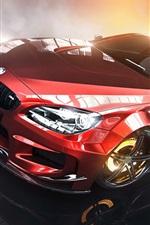 Preview iPhone wallpaper BMW M3 E92 red car, brake, smoke