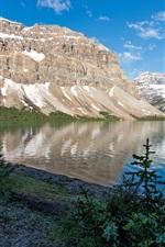 미리보기 iPhone 배경 화면 밴프 공원, 캐나다, 산, 바위, 호수, 나무