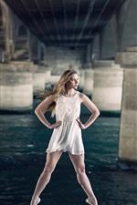 Preview iPhone wallpaper Beautiful girl, ballerina, grace, bridge