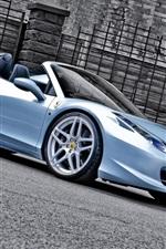 iPhone обои Ferrari 458 Spider автомобиль