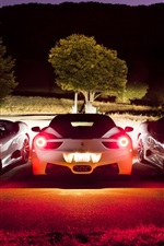Preview iPhone wallpaper Ferrari F430 white supercar at night
