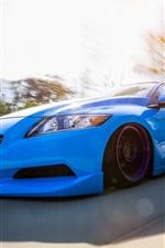 iPhone壁紙のプレビュー ホンダCR-Z青い車正面