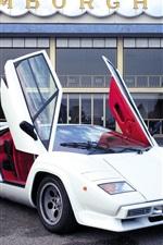 Lamborghini Countach LP5000 S white supercar