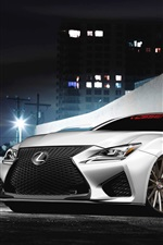 Preview iPhone wallpaper Lexus RC F white car front view