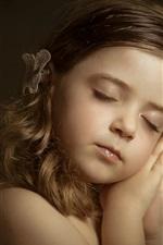 Preview iPhone wallpaper Little angel, cute girl, sleep