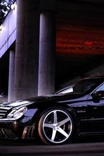 Preview iPhone wallpaper Mercedes-Benz CLK63 black car