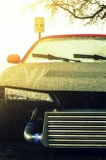 미리보기 iPhone 배경 화면 닛산 실비아 S14 검은 자동차 전면보기