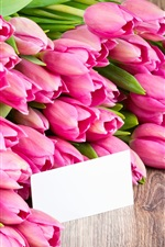 Preview iPhone wallpaper Pink flowers, tulips, bouquet
