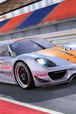 Preview iPhone wallpaper Porsche 918 RSR Concept supercar side view