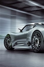 Porsche 918 Spyder concept supercar back view