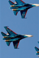 Preview iPhone wallpaper Russian Knights, flight, fighter