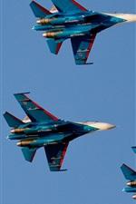 iPhone обои Русские Витязи, полет, истребитель