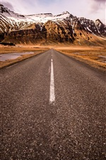 Preview iPhone wallpaper Scandinavia, South Iceland, road, mountains