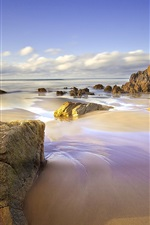 Preview iPhone wallpaper Spain, Asturias, beach, sea, rocks