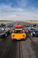 Supercars, Lamborghini, Aston Martin, Ferrari