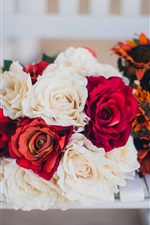 Preview iPhone wallpaper White red rose flowers