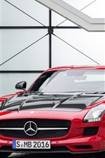 Preview iPhone wallpaper 2014 Mercedes-Benz SLS AMG GT-Final-Edition supercar