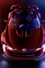 Preview iPhone wallpaper 2014 Volkswagen GTI Roadster Concept supercar