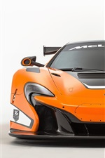 Preview iPhone wallpaper 2015 McLaren 650S GT3 orange supercar front view