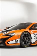 2015 McLaren 650S GT3 orange supercar