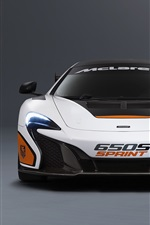 Preview iPhone wallpaper 2015 McLaren 650S Sprint white supercar front view