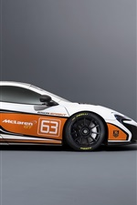Preview iPhone wallpaper 2015 McLaren 650S Sprint white supercar side view