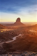 Arizona, Monument Valley, sunset, mountains, desert