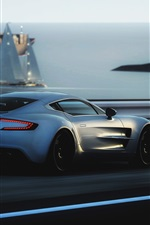 Preview iPhone wallpaper Aston Martin ONE-77 supercar speed