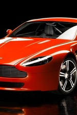 Preview iPhone wallpaper Aston Martin V8 red sport car