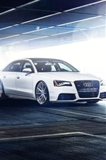 Preview iPhone wallpaper Audi A8 L white car, parking, glare