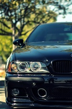 Preview iPhone wallpaper BMW M5 E39 black car front view