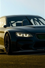Preview iPhone wallpaper BMW black car front view, lights