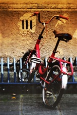 Preview iPhone wallpaper Bicycle parking street