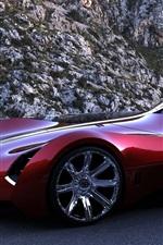 미리보기 iPhone 배경 화면 부가티 Aerolithe 개념 빨간색 초차