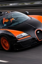 Bugatti Veyron 16.4 Grand Sport supercar at race