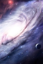 Preview iPhone wallpaper Cosmos, galaxy, light, planets