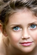 Menina bonito, retrato, rosto, olhos