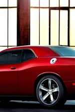 Preview iPhone wallpaper Dodge Challenger 100th Anniversary red supercar