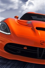 Dodge SRT Viper orange supercar front view