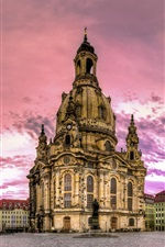 Preview iPhone wallpaper Dresden, Germany, buildings, houses, dusk
