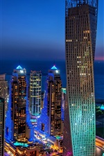 iPhone fondos de pantalla Dubai, ciudad, noche, luces, edificios, rascacielos