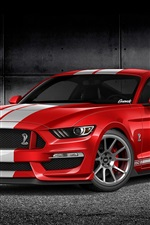 Preview iPhone wallpaper Ford Mustang GT350 red car front view