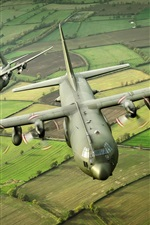Preview iPhone wallpaper Hercules military transport aircraft C-130K