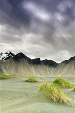 Preview iPhone wallpaper Iceland, nature scenery, mountains, clouds, spring