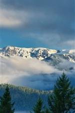 Olympic National Park, Washington, Olympic Ridge, clouds, mountain