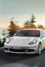 Porsche Panamera E-Hybrid car front view