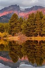 Preview iPhone wallpaper USA, Colorado, National Park, autumn, mountains, trees, lake