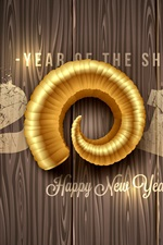 2015 Feliz Ano Novo, ano ovelhas